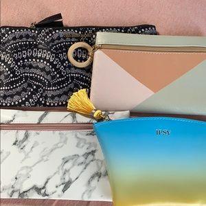 Makeup Bag bundle. 3 Ipsy, 1 VS